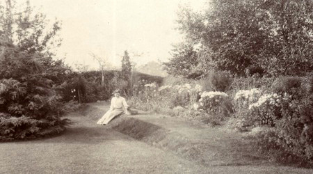 Garden at Canterbury House, Marston Green, 1905