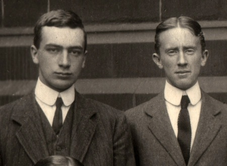 R.Q. Gilson and J.R.R. Tolkien as prefects, 1910/11
