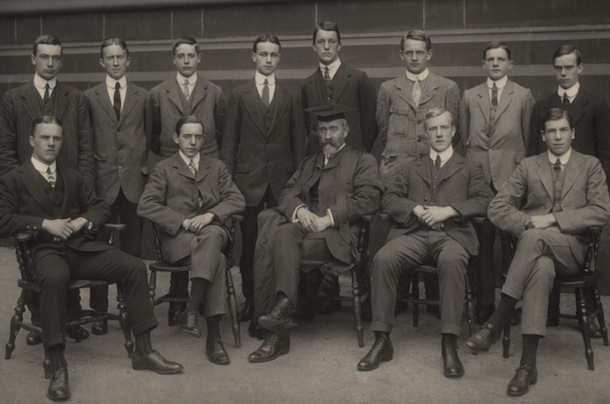 Tolkien and King Edward's School prefects, 1910/11